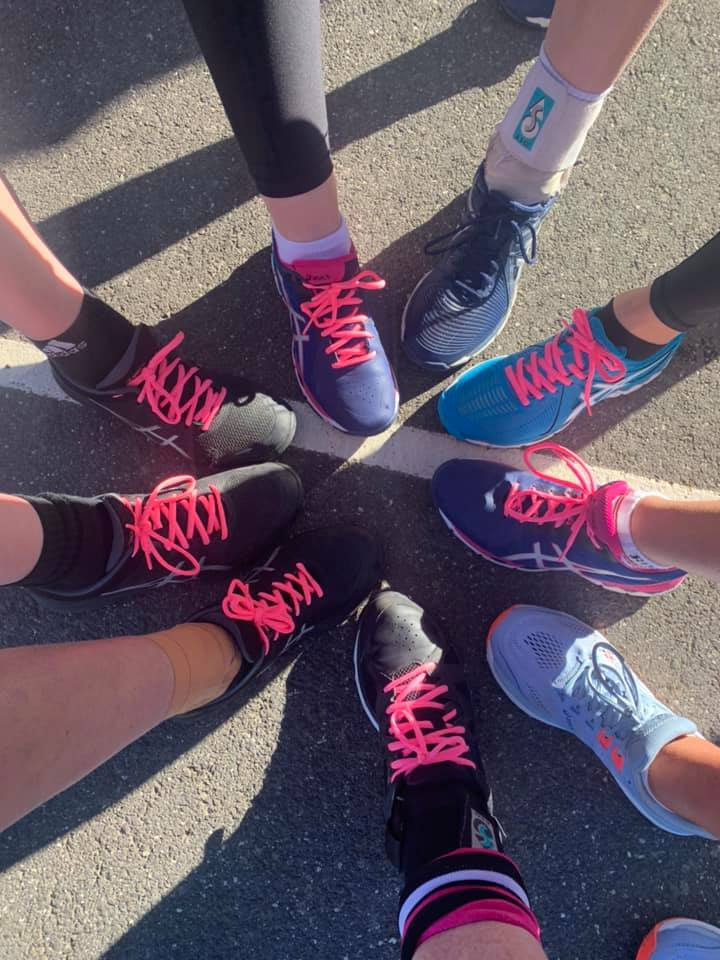 Pink Ribbon Round - Netball Show Their Support