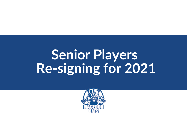 Football - Committed Cat Seniors Celebrated for 2021
